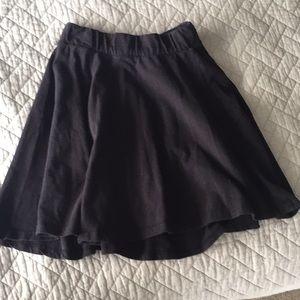 Black Circle/Skater Skirt